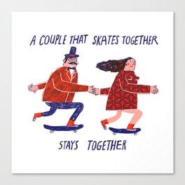 skate couple Canvas Print