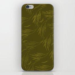 Leaf Pattern: Golden Willow iPhone Skin