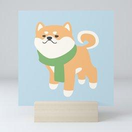 Cozy Shiba Inu Mini Art Print