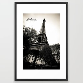 L'Amour Paris Framed Art Print