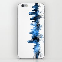 tennessee iPhone & iPod Skins featuring Memphis Tennessee Skyline by artPause