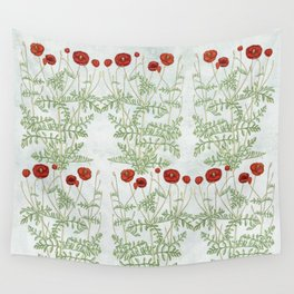 A reminder of past poppies Wall Tapestry