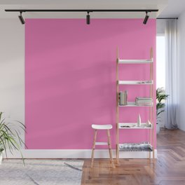 Bright Solid Retro Pink - Color Therapy Wall Mural