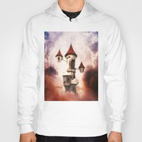 castle in the sky Hoodies featuring Castle in the Sky by Heidy Curbelo
