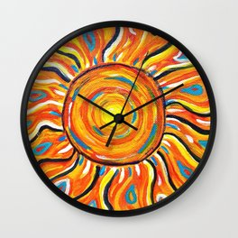 Summer Sun Wall Clock