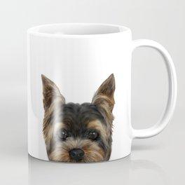 Yorkshire Terrier Mix colorDog illustration original painting print Coffee Mug