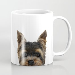 Yorkshire Terrier Mix colorDog illustration original painting print Coffee Mug