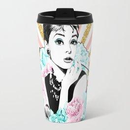 Iconic Audrey Hepburn Travel Mug