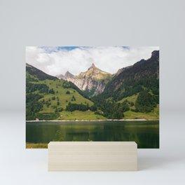 View of lake Innerthal Switzerland Mini Art Print