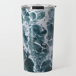 Minimalistic Veins in a Wave  - Seascape Photography Travel Mug