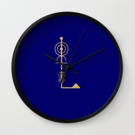 Sacred Geometry Letter L Wall Clock