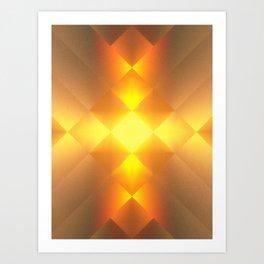 Gold Lamp Art Print