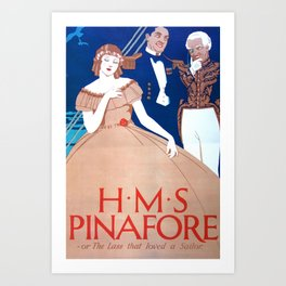 Vintage Art Deco pre 1920's Theatre Play Poster Style Art Print