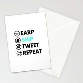 Earp Ship Tweet Repeat (Black) inspired by Wynonna Earp Stationery Cards