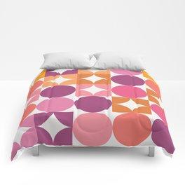 Mid Century Shimmering Sunset Comforters