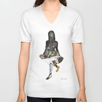 alice in wonderland V-neck T-shirts featuring Wonderland. by almost great.