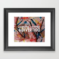 Liándonos Framed Art Print