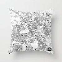 berlin Throw Pillows featuring BERLIN by Maps Factory