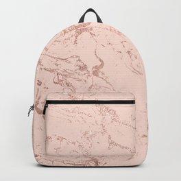 Modern rose gold glitter ombre foil blush pink marble pattern Backpack