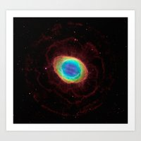 nasa Art Prints featuring NASA Hubble Space Telescope by Planet Prints