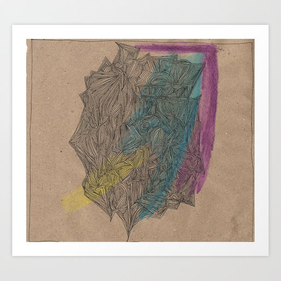 'Abstract of Your Face' Art Print