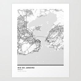 Rio de Janeiro Simple Map Art Print