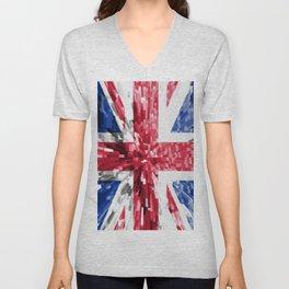 Extruded Flag of the United Kingdom Unisex V-Neck