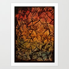 Triangles are for fun. Art Print