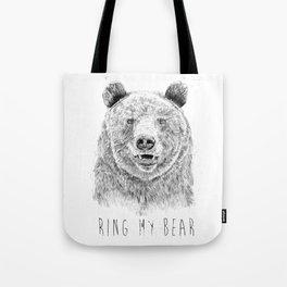 Ring my bear (bw) Tote Bag