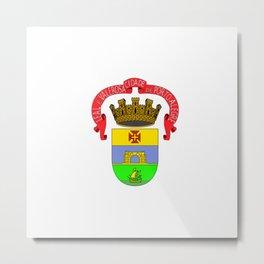 Flag of porto Alegre Metal Print