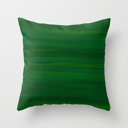 Emerald Green Stripes Abstract Throw Pillow