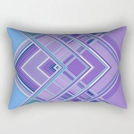 Purple Blue Aqua Multi Pattern Design Rectangular Pillow