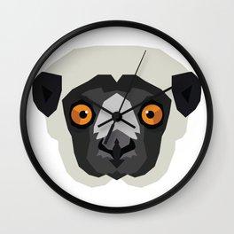 Coquerel's Sifaka Lemur Wall Clock