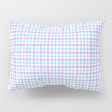 Gingham purple and teal Pillow Sham