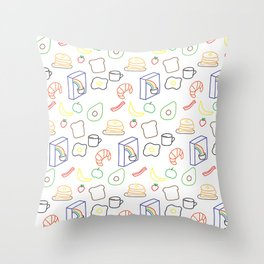 Breakfast Baby! Throw Pillow