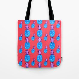 Tropical Punch, Pineapple Pattern Tote Bag