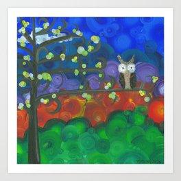 Art by MiMi Stirn - Owl Singles #339 Art Print