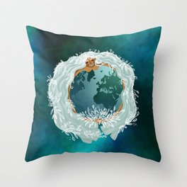 Mother Earth - Mother Nature - Love Earth Throw Pillow