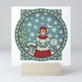 version of peaceful snow 2 Mini Art Print
