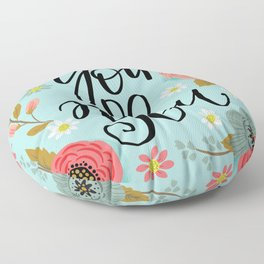 Pretty Not So Sweary: You Do You Floor Pillow