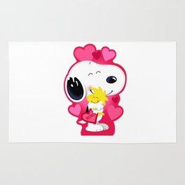 Snoopy pink hug Rug