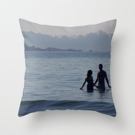 Couple in the Sea Palolem Throw Pillow