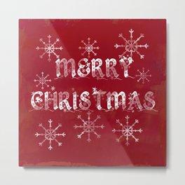 Merry Christmas in red Metal Print