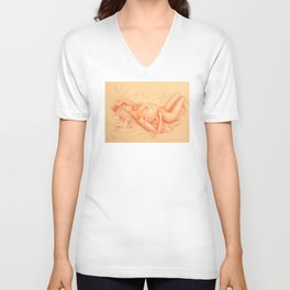 Sleeping Venus - Erotic lying Woman Unisex V-Neck