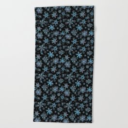 """""""Embroidered"""" Snowflakes Beach Towel"""