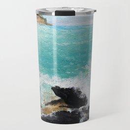 Rocky Blue Sea Travel Mug