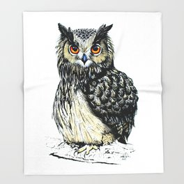Eagle Owl Throw Blanket