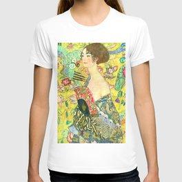 """Gustav Klimt """"Lady with fan"""" T-shirt"""