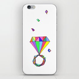 Shine Colorfully diamonds jewelry illustration fashion gem colorful accessory princess girly iPhone Skin