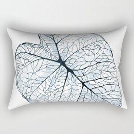 Blue Alocasia Botanical Rectangular Pillow